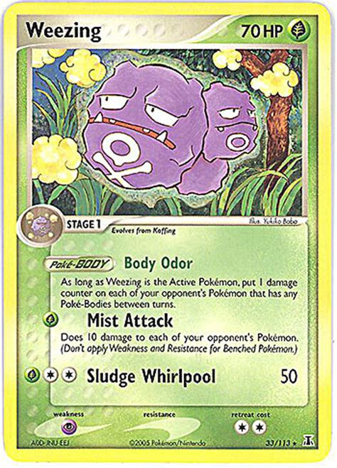 pokemon card delta species  weezing rare
