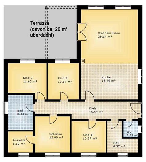 Bungalow Haus Pläne by Bungalow 3 Kinderzimmer Haus House Plans House