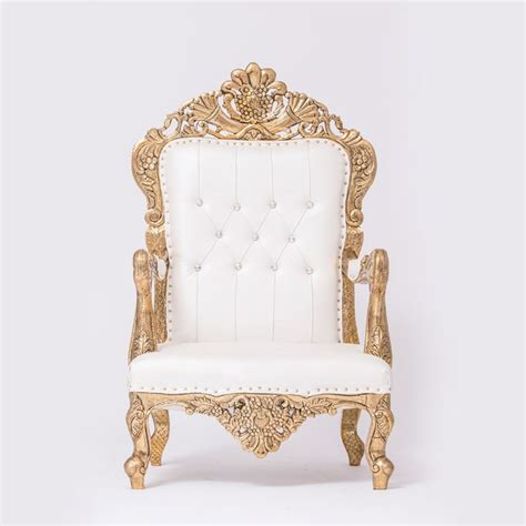 white gold tufted chair 187 event rent