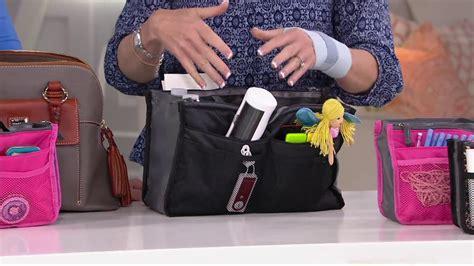 periea set   handbag organizers  pockets  qvc