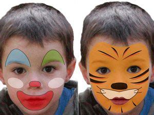 kinderschminken einfache vorlagen fuer karneval