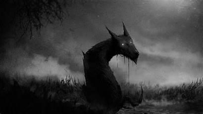 Scary Wolf Demon Dark Evil Creepy Horror