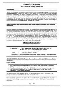 qc welding supervisor resume resume siva qa qc multi discipline