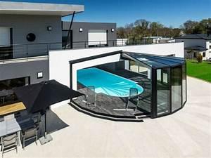 une veranda retractable au coeur d39une maison bretonne With louer une villa avec piscine en france 4 piscine interieure de luxe fashion designs