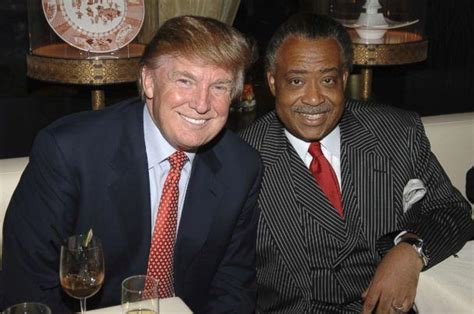 trump sharpton donald al rev president friends racist vs blacks rappers african obama he fight don american still jr father