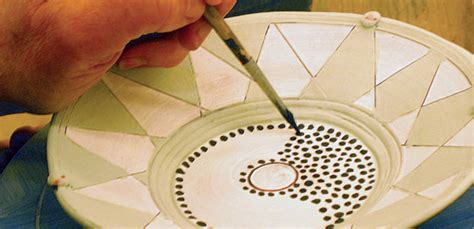Decorating Low Fire Pottery With Slips, Underglazes, And