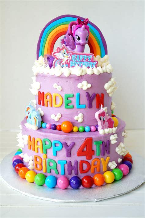 pony tiered birthday cake  baking fairy