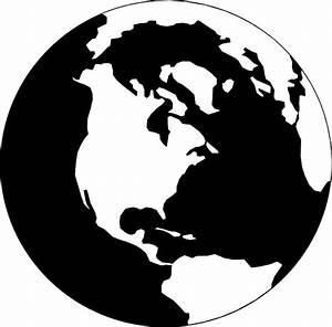 World Map Black And White Outline - ClipArt Best