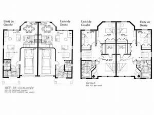modele plan maison plan maison 130 plan 1100e avec mesure With ordinary plan gratuit de maison 6 modele jumele