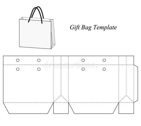 bag template blank gift bag template stock vector illustration of