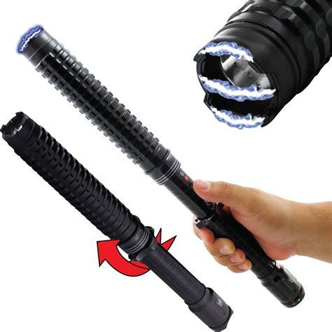bright led flashlight streetwise expandable led stun gun baton 13m the home