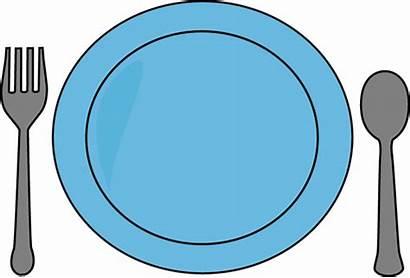 Plate Utensils Dinner Clip Fork Spoon Graphics