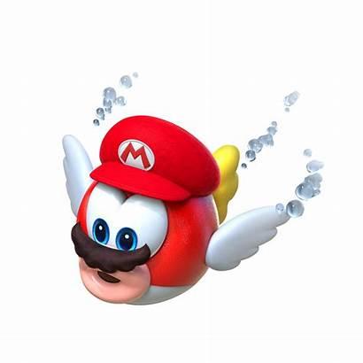 Mario Cheep Odyssey Render Capture Piranha Nintendo
