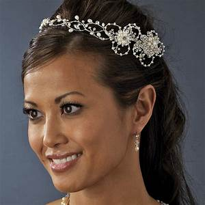Silver Freshwater Pearl Circlet Bridal Hair Accessory