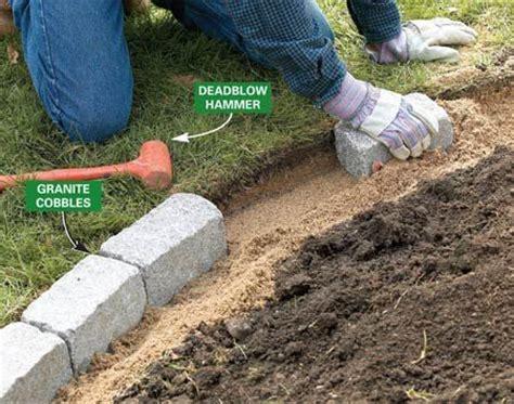 path edgers raised bed rock borders brick garden edging b rock gardens pinterest gardens raised