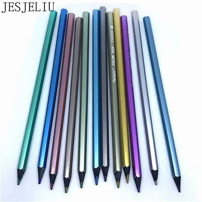 Metallic Pencil Drawing Colored Supplies Non Office