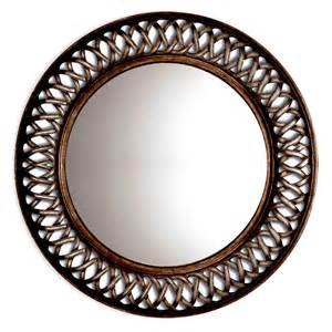 Circle Mirror Wall Decor by Shop Oil Rubbed Bronze Round Framed Wall Mirror At Lowes Com