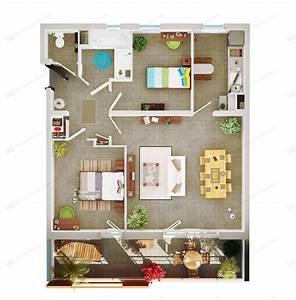 perspectives 3d d39un programme immobilier sur montpellier With plan d appartement 3d