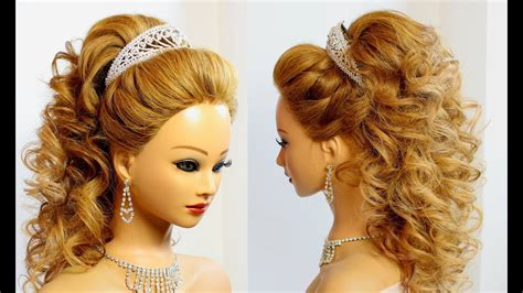 bridal hairstyle  long hair tutorial youtube