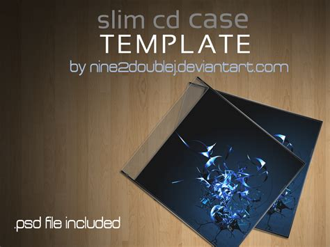 cd case template  photoshop
