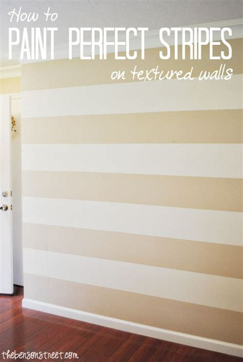 paint perfect stripes   textured wall baby