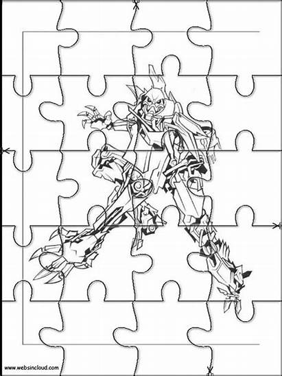 Transformers Actividades Recortar Puzzles Websincloud Puzzle Coloring