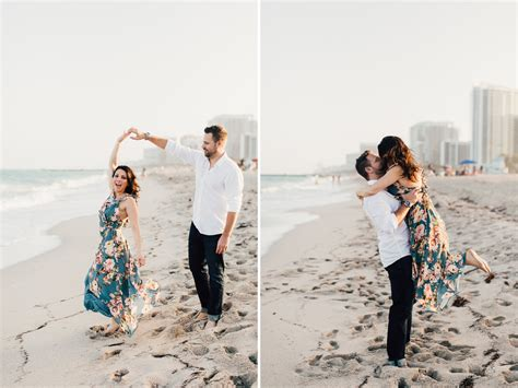 Miami Beach Candid Engagement Photography