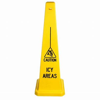 Safety Cones Icy Caution Cone Traffic Areas