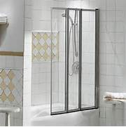 Shower And Tub Enclosures Lowes by Maax 135340 900 084 000 MAAX Framed Three Panel Folding Tub Shield 39 5 X 56