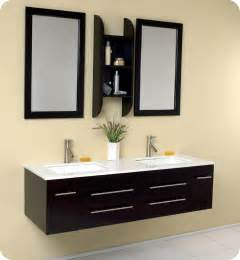 fresca bellezza espresso modern double sink bathroom