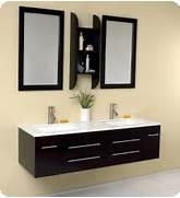 Modern Vanity Furniture by Fresca Bellezza Espresso Modern Double Sink Bathroom Vanity Direct To You Fu
