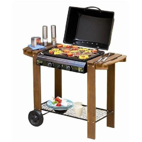 barbecue gaz a de lave barbecue a gaz sur de lave chariot en bois achat vente barbecue barbecue a gaz