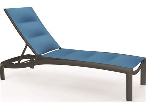 chaise alu tropitone kor padded sling aluminum chaise lounge armless