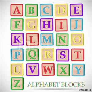 alphabet block illustration buy this stock vector and With where to buy block letters