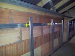 Doubler Un Mur En Placo Sur Rail : pose rail placo mur sans plafond 16 messages ~ Dode.kayakingforconservation.com Idées de Décoration