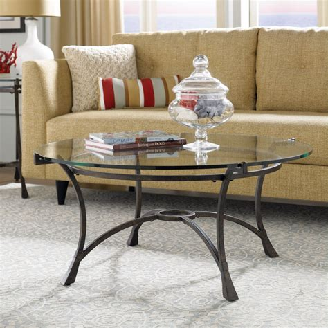 glass coffee tables  bring transparency