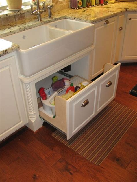Country Kitchen Sink Ideas by Apron Sink Drawer Great Idea Since It S Always