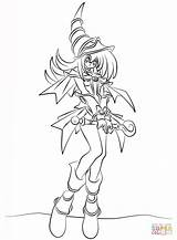 Magician Coloring Dark Pages Yu Gi Oh Printable Drawing Getcolorings Puzzle sketch template