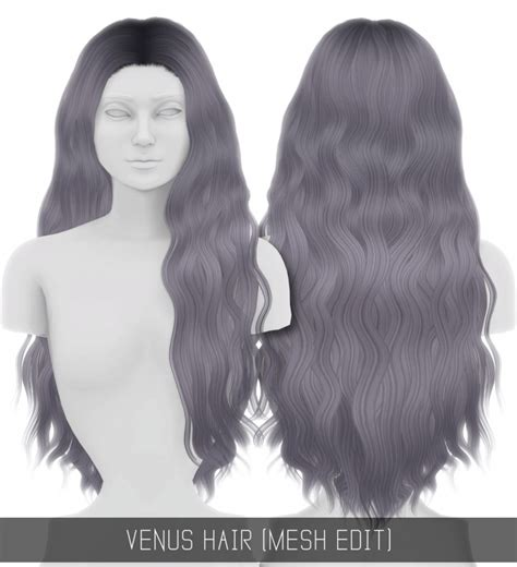 venus hair mesh edit  simpliciaty sims  updates