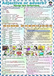 Adjective Or Adverb  Grammar And Exercises  B U0026w Version
