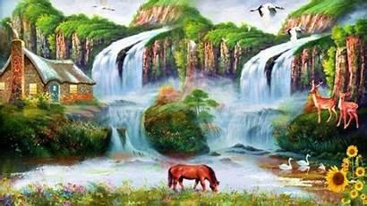 Nature Wallpapers Pc Desktop 3d Waterfall Backgrounds