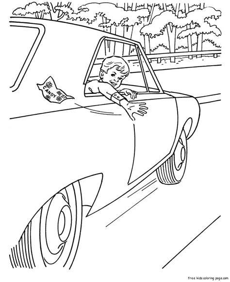print  boys car colouring pages  kidsfree printable