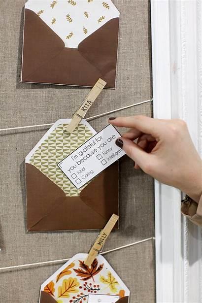 Notes Envelopes Gratitude Evite Step Thanksgiving Template