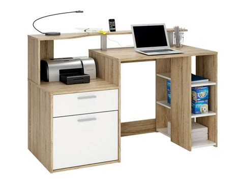 bureau noir conforama bureau 1 porte 1 tiroir 3 niches oracle coloris blanc