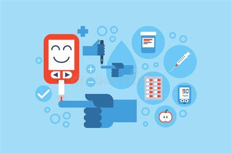 diabetes blue ring concept stock vector illustration