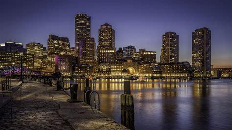 boston city  night hd wallpaper wallpaper vactual papers