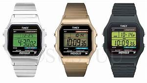 Timex 80 Vintage Retro Indiglo Water Resistant Lcd Watch