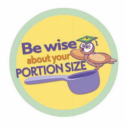 Portion Serving Clipart Control Healthy Nutrition Eating
