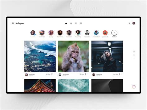 instagram desktop homepage  jean delbrel  dribbble