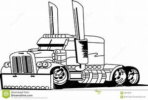 Truck Outline Stock Vector  Illustration Of Classic  Truck